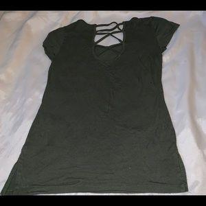 Women's green top size medium